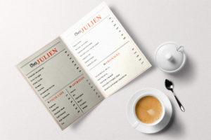 impression menu pour restaurant