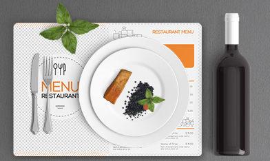 set de table indéchirable pour restaurant