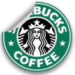 sticker publicitaire starbucks