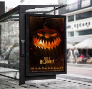 affiche publicitaire Halloween