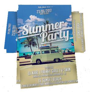 flyer publicitaire summer