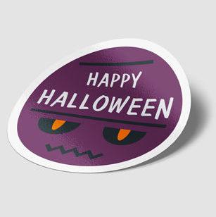 sticker publicitaire Halloween