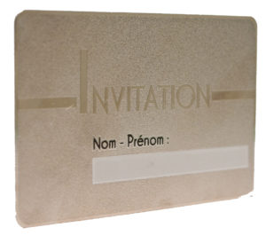 finition luxe Pantone Or