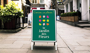 Stop-trottoir fleuriste