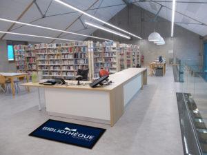 tapis publicitaire bibliothèque