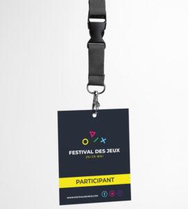 impression tour de cou badge festival