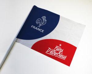 impression drapeau supporter