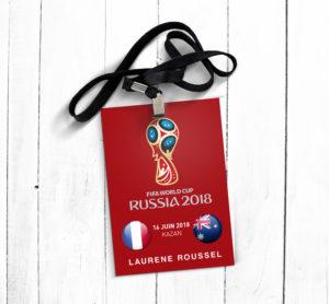 impression badge coupe du monde