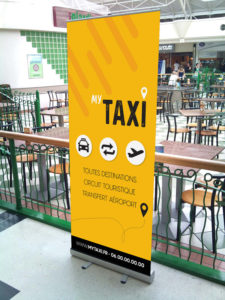 impression roll'up compagnie de taxi