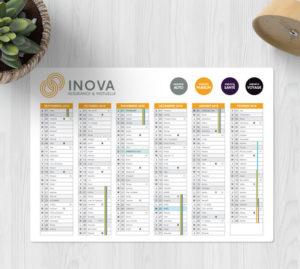 calendrier remborder pour bureau
