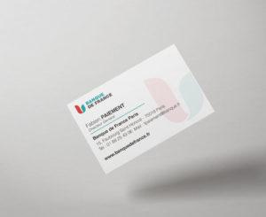 impression carte de visite banque