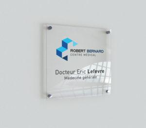 impression plaque plexiglass