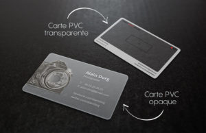 carte pvc transparent et opaque