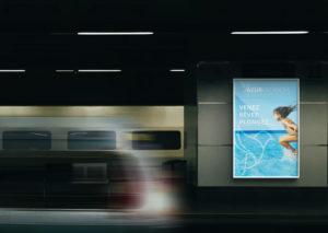 affichage urbain métro