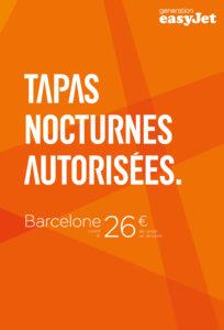 easyjet barcelone publicité originale