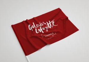 drapeau tissu