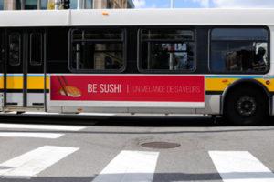 affiche flanc de bus
