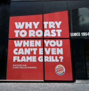 bâche burger king slogans