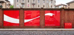 coca cola affichage publicitaire