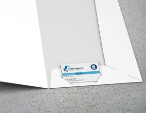 pochette à rabat encoche carte de visite