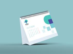 calendrier chevalet personnalisé