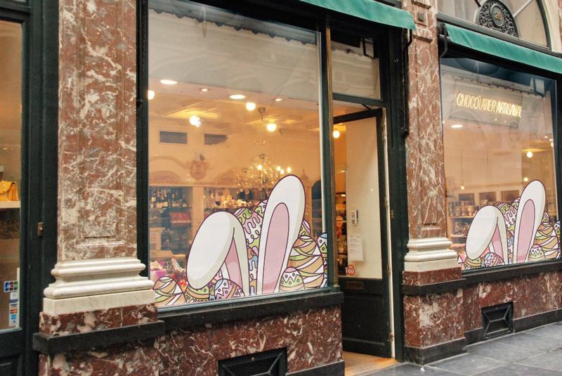 impression autocollant vitrine Pâques