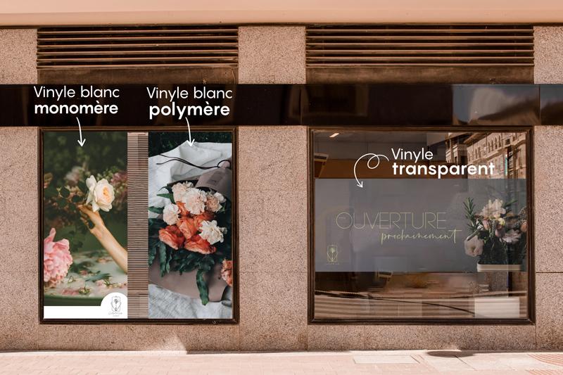 vinyle lettrage translucide