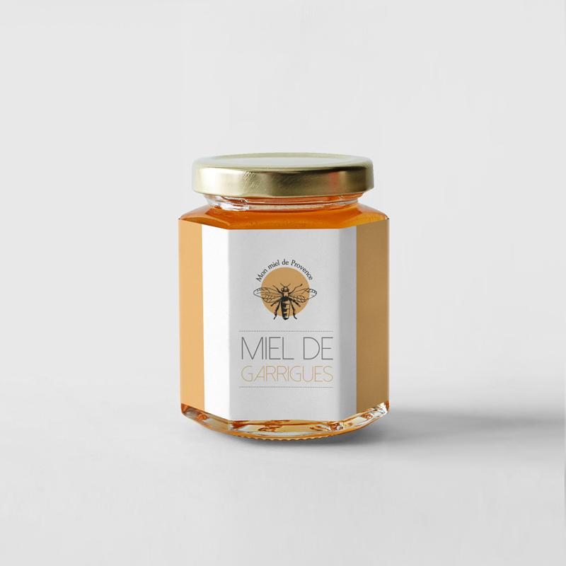 impression étiquette rouleau miel