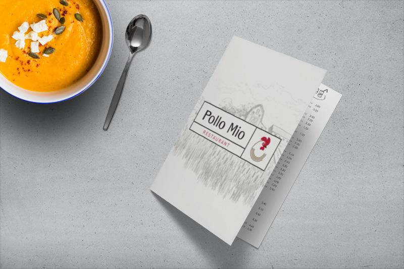 menu de restaurant personnalisé