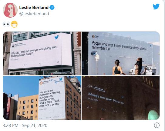 publicité panneaux d'affichages twitter