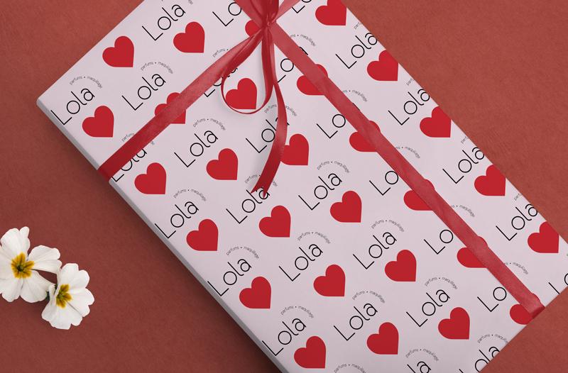 papier cadeau personnalisé Saint-Valentin