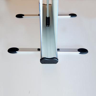 Pied roll'up extérieur imprimé double face 100x200