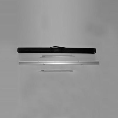 Vue de haut, contenu du sac roll'up imprimé 175x200