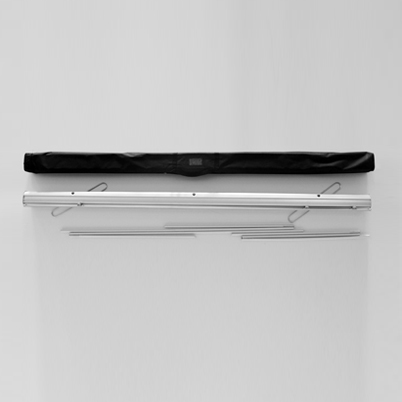 Vue de haut, contenu du sac roll'up imprimé 200x200