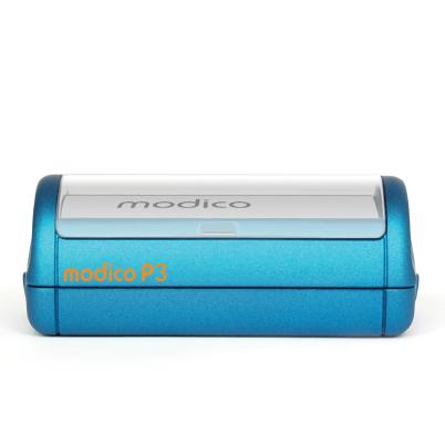 Tampon P3 automatique plat bleu imprimé