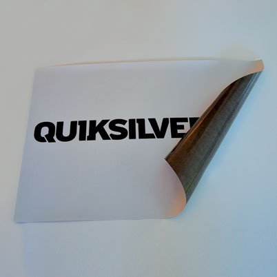 Autocollant vinyle grand format blanc pour sol imprimé