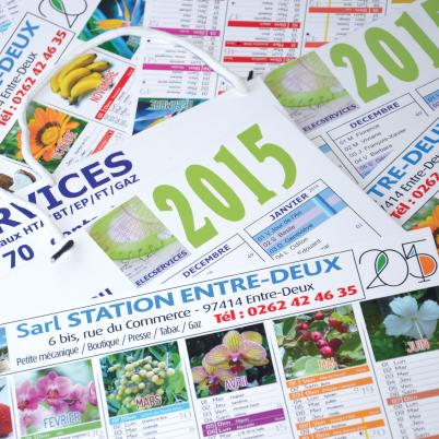 Modèles calendriers imprimés