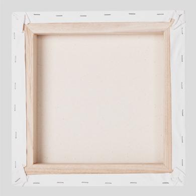 Vue de dos du canvas avec chassis