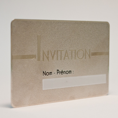 Impression Carte Metal Recto Verso