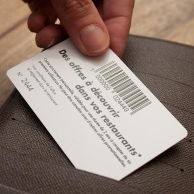 Carte PVC classique - code barre mise en sitation
