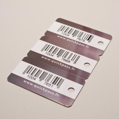 Carte PVC classique - tri cartes code barre