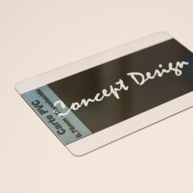 Carte PVC classique - vue haut transparente translucide