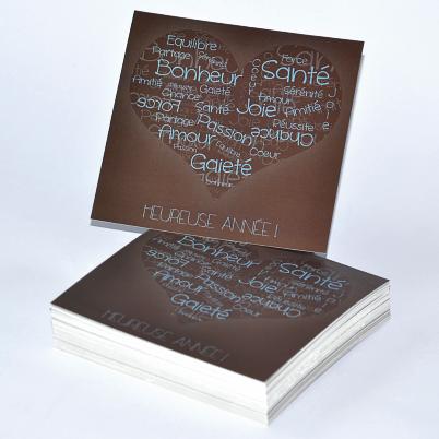 Impression carte de voeux carte de voeux pr d finie ou Impression carte de voeux