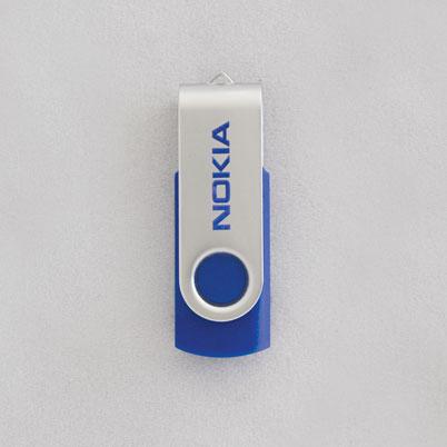 Exemple clé USB imprimée / personnalisée 'classic blue'