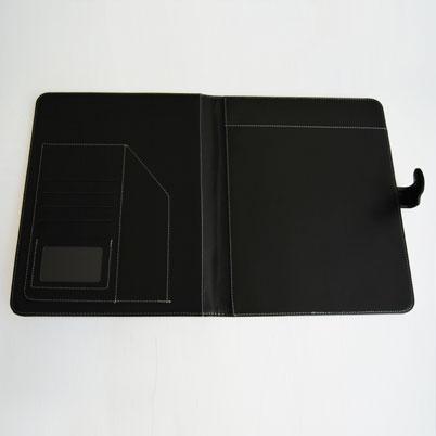 Conférencier imprimé ouvert sans bloc-notes