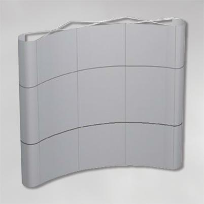 Structure pour mur d'image courbé 3x3 PVC