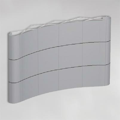 Structure pour mur d'image courbé 4x3 PVC