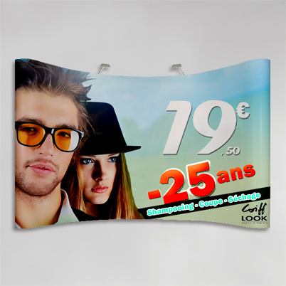 Exemple impression mur d'image courbé 5x3 PVC