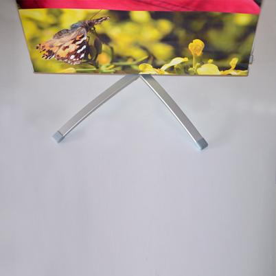 Pied banner extérieur double face 60x160