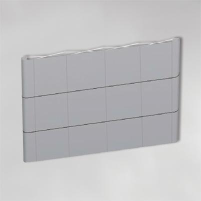 Structure pour mur d'image droit 4x3 PVC